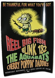Be Thankful Gig Poster W Blink 182 The Aquabats